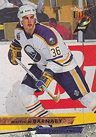 Amazon.com  Hockey NHL 1993-94 Ultra  13 Matthew Barnaby  13 NM ... dd0d72269