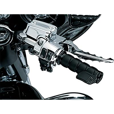 Kuryakyn 6318 Premium ISO Contoured Throttle Boss Motorcycle Handlebar Grip Accessory: Universal Fit, Right Side Only, Gloss Black, Pack of 1: Automotive