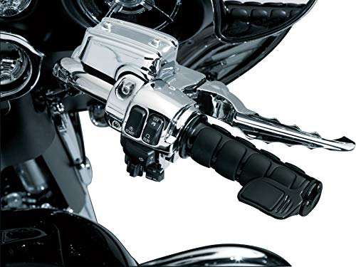 Kuryakyn 6318 Premium ISO Contoured Throttle Boss Motorcycle Handlebar Grip Accessory: Universal Fit, Right Side Only, Gloss Black, Pack of 1