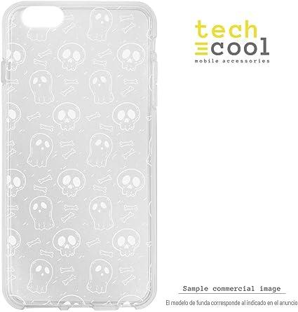 Funnytech/® Funda Silicona para iPhone X Calaveras Colores Gel Silicona Flexible, Dise/ño Exclusivo
