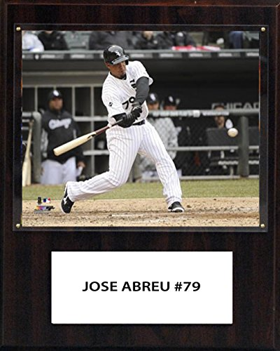 (C&I Collectables MLB Chicago White Sox Jose Abreu Player Plaque, 12 x 15-Inch)