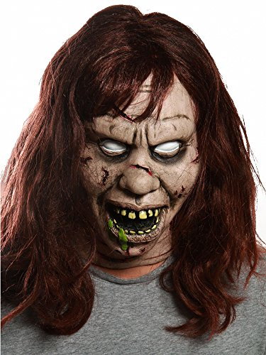 Exorcist Halloween Costumes (Regan Exorcist Evil Possessed Halloween Mask with Teeth and)