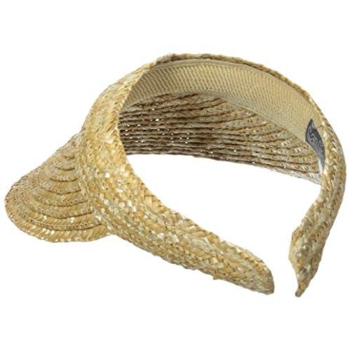 c63f8c4d San Diego Hat Company Women's 4-Inch Brim Wheat Straw Visor ...
