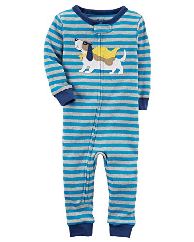 d31f87c60 Carter s Baby Boys  1-Piece Snug Fit Footless Cotton Pajamas (12 ...