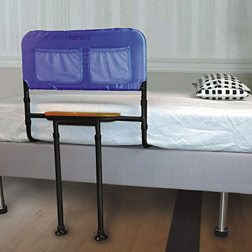 Bed Rail with Tray - Adjustable Support Bar Handle - Fits Beds 16'' to 21'' High by DEMBY USA