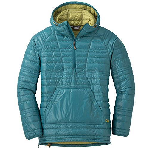 (Outdoor Research Women's Down Baja Pullover, Washed Peacock/Avocado, X-Small )
