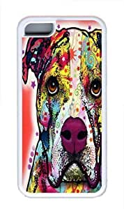 American Bulldog Custom iPhone 5C Case Cover TPU White Kimberly Kurzendoerfer