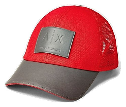 5aade870e5c Armani Exchange AIX Leather Patch Baseball Hat Cap in - Import It All