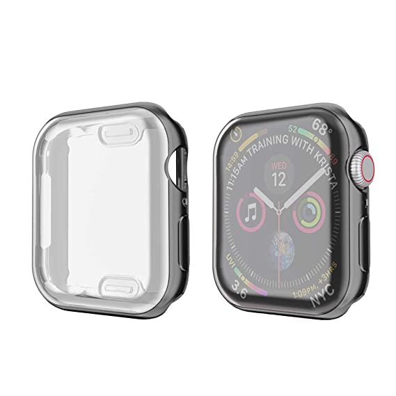 pretty nice 845a7 1039e amBand Screen Protector Compatible for Apple Watch 38mm, Full Cover TPU  Case Bumper Compatible for iWatch Series 3/2/1 Black