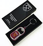 Official West Ham United FC Torch Light Bottle Opener Keyring in a Gift Box
