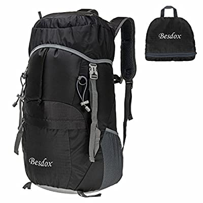 Besdox Foldable Backpack 40L Lightweight Travel Water Resistant Backpack Packable Hiking Daypack
