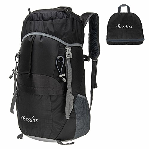 Besdox Foldable Backpack 40L Lightweight Travel