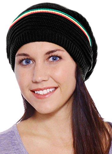 Simplicity Winter Slouchy Beanie Stripe Black