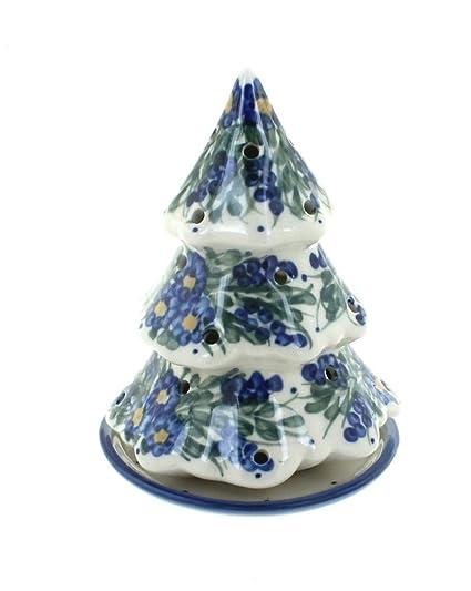 WR Unikat Blue Rose Polish Pottery Hyacinth Christmas Tree Luminary - Amazon.com: WR Unikat Blue Rose Polish Pottery Hyacinth Christmas