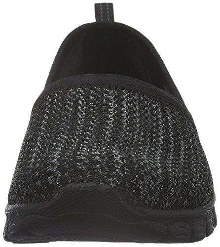 Skechers Vrouwen Ez Flex Grote Geld Fashion Sneaker Zwart Gebreide