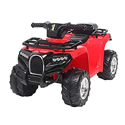 Hanyoo Toy Vehicles Small Beach Bike Single Drive Battery 6V4.5AH 1 with Music Board Red: Toys & Games