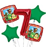 Wonder Pets Balloon Bouquet 7th Birthday 5 pcs - Party Supplies