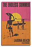 Laguna Beach, California - The Endless Summer - Original Movie Poster (10x15 Wood Wall Sign, Wall Decor Ready to Hang)