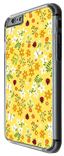 960 - cool cute fun shabby chic butterfuy ladybirds Design For iphone 6 Plus / iphone 6 Plus S 5.5'' Fashion Trend CASE Back COVER Plastic&Thin Metal -Clear