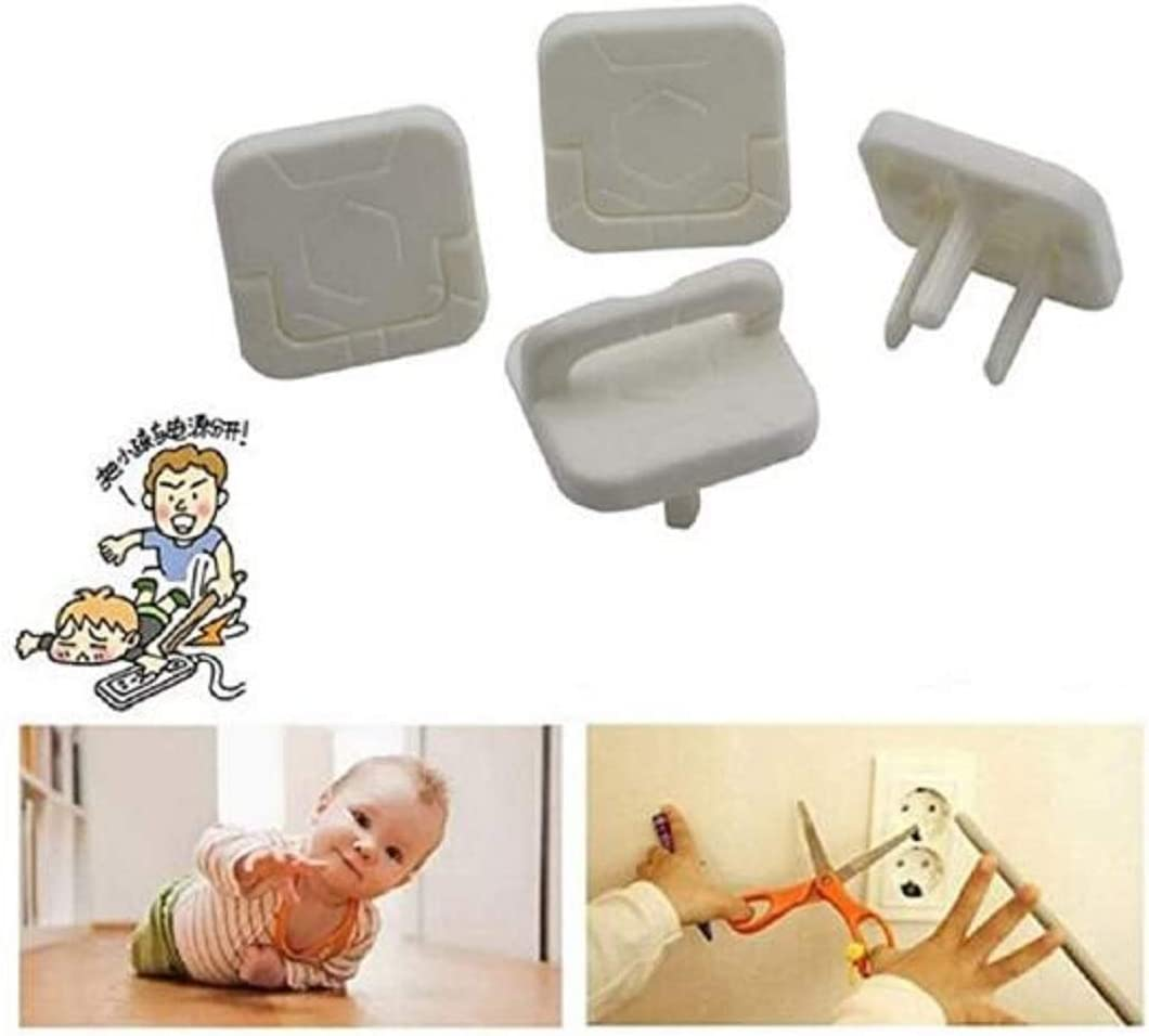36 Pack 3-Prong Child Outlet Plug Covers No Easy to Remove by Children White Safe Plug Covers Baby Proof with Hidden Pull Handle