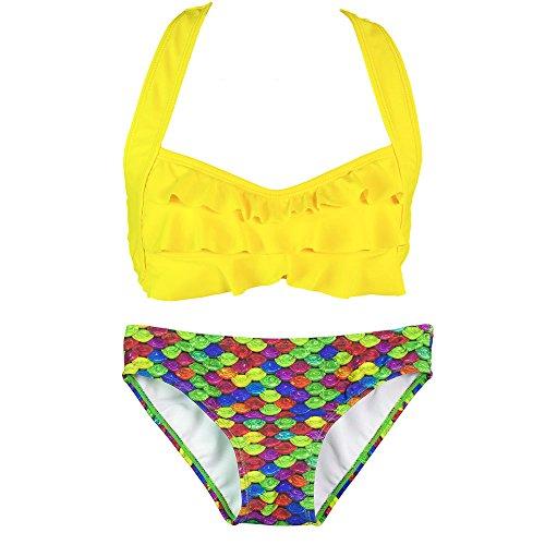fin-fun-mermaid-girls-sea-wave-bikini-set-yellow-top-rainbow-reef-bottom-medium