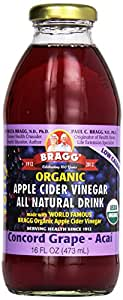 Amazon.com : Bragg Organic Apple Cider Vinegar, Grape and