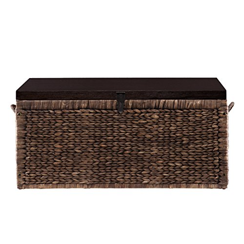 Southern Enterprises Water Hyacinth Storage Trunk, Blackwashed with Espresso Finish by Southern Enterprises