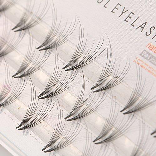 gainvictorlf False Eyelash 48Pcs Pro Makeup Mink Fur Individual Cluster Eye Lashes Fake False Eyelashes - 10mm