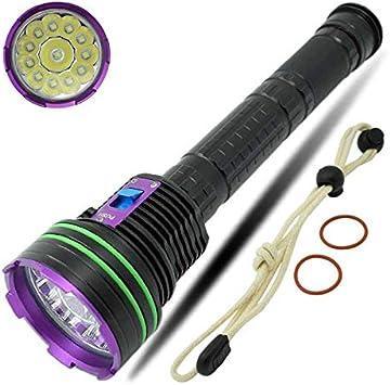 3W 100M 30000LM Diving Taschenlampe Tauchlampe Wasserdicht Unterwasser
