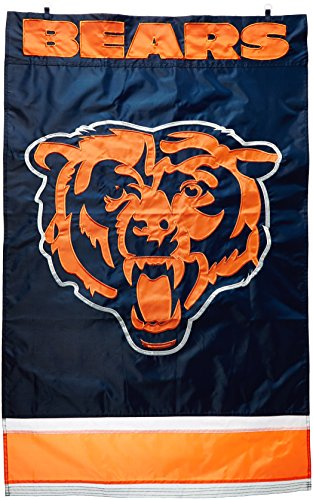 Party Animal AFCH/Bears Applique Banner (Chicago Bears Applique Banner Flag)