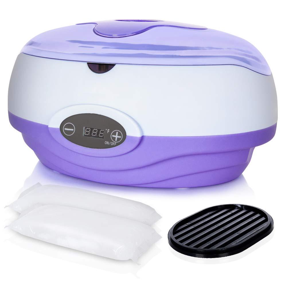 Paraffin Wax Machine for Hand and Feet, Kolem Paraffin Wax Bath, Quick Heating Paraffin Machine, Skin Moisturizing Paraffin Wax Machine Kits with 2lb Unscented Paraffin Wax, Purple