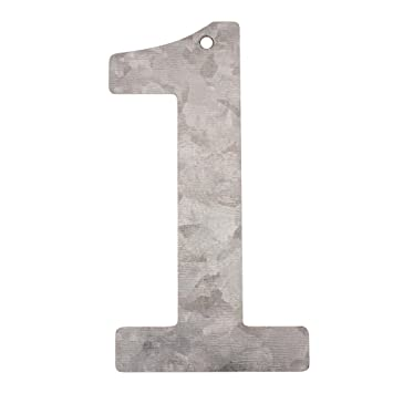 Metall Zahlen 2 verzinkt Höhe 12 cm