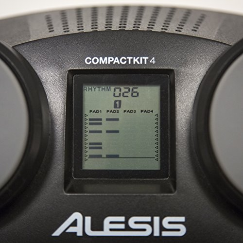 Large Product Image of Alesis CompactKit 4 | Portable 4-Pad Tabletop Electronic Drum Kit with Drumsticks