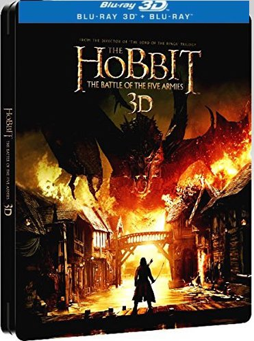 The Hobbit: The Battle Of The Five Armies [3D + Blu-ray] [steelbook] English, Greek, Estonian, Hindi, Chinese, Korean, Croatian, Latvian, Lithuanian, Ukranian, Russian, Slovenian, Thai, Turk