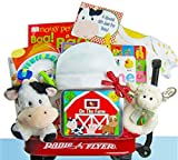 Day on the Farm | Baby Gift Basket in Mini Radio Flyer Wagon