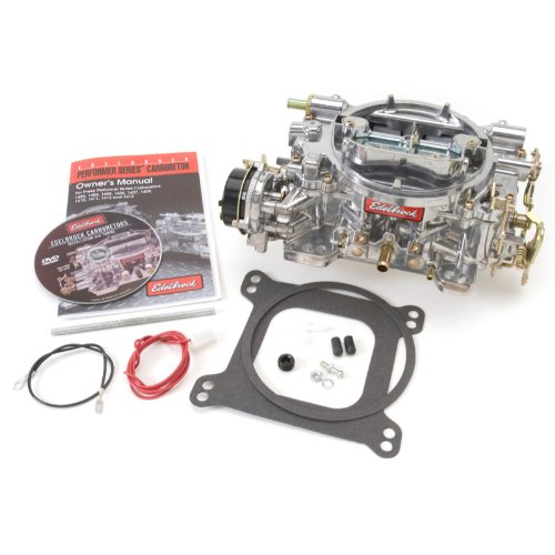 - Edelbrock 1406 Performer 600 CFM Square Bore 4-Barrel Air Valve Secondary Electric Choke Carburetor
