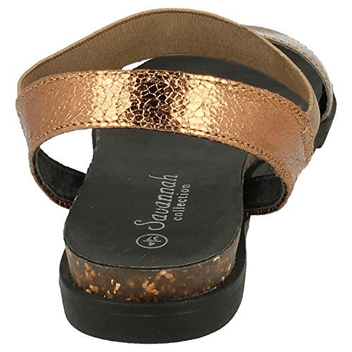 Savannah Ladies Summer Sandals Bronze MZUcE9hN