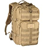 Exos Bravo Tactical Assault Backpack Rucksack. Great as a Bug Out Bag, Daypack, or Go Bag; for Hiking, or Camping. Molle equipped & hydration pack ready(Coyote Tan) Review