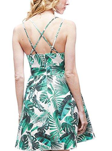 Naf Naf Vestido Naf Tropical Vestido Tropical Vestido Tropical Verde Verde Verde 0xUwqn4gg