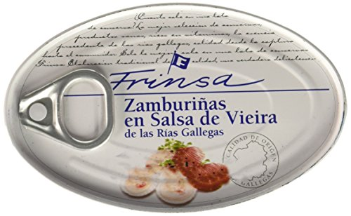 Shop Mussels - Spanish Frinsa Small Scallops in Salsa Vieira, 3.9oz (111gm), Pack of 1
