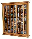 41 Shot Glass Display Case Cabinet Holder- with Glass Door, Oak Finish (SC03-OA)