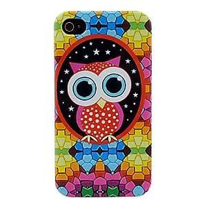 Cartoon Owl Pattern Soft TPU IMD Case for iPhone 4/4S