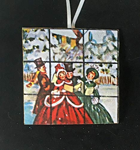 Carolers at Window Ornament Handcrafted Wooden Christmas Decor Choir Director Gift, Religious, Carols, Old-Fashioned Singers ()