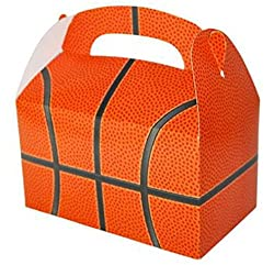 24 BASKETBALL PARTY TREAT BOXES FAVORS GOODY BAG PRIZE GIFT...
