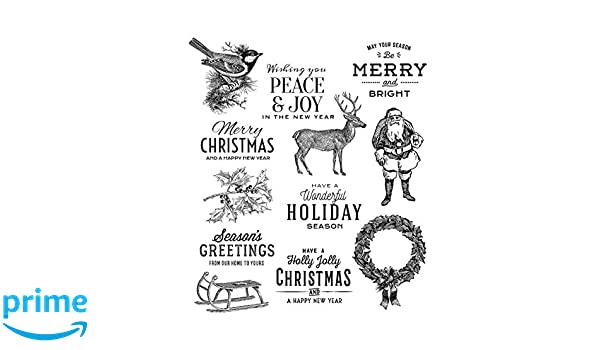 Tim Holtz Scenic Holiday Stampers Anon CMS391 Cling RBBR Stamp Set HDY