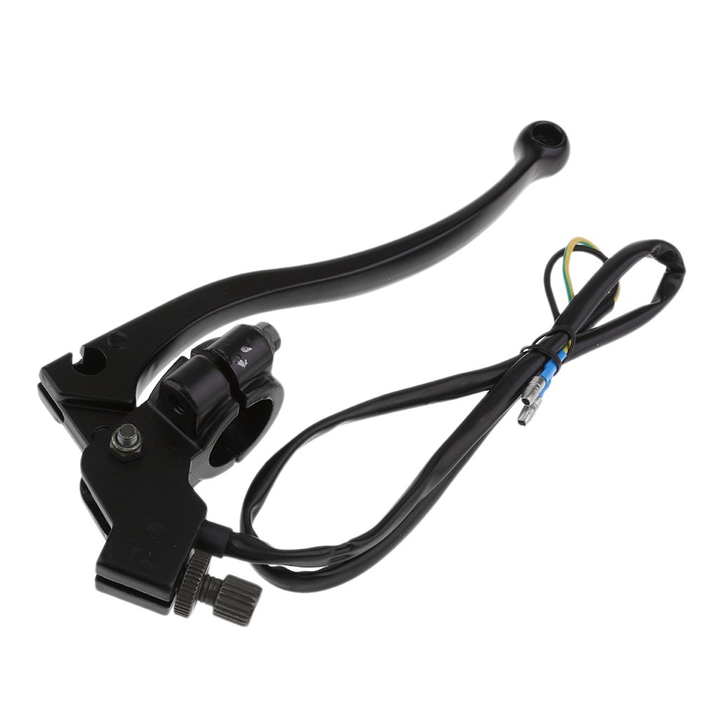 D DOLITY Metal Motorcycle Left Handlebar Clutch Brake Lever with Wires for 200cc 250cc 300cc