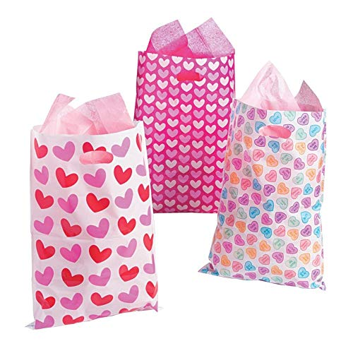 (Large Valentine's Day Party Favor Goody Bags - 50 ct)