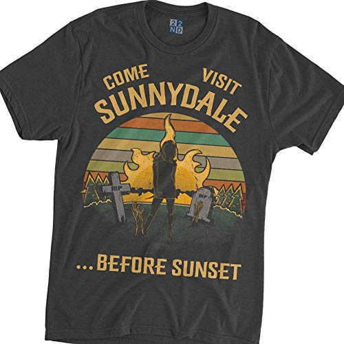 Come Visit Sunnydale Before Sunset Vintage T-Shirt Buffy The Vampire Slayer Dark Heather
