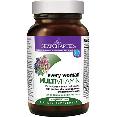 New Chapter Women's Multivitamin, Every Woman, Fermented with Probiotics + Iron + Vitamin D3 + B Vitamins + Organic Non-GMO Ingredients - 120 ct