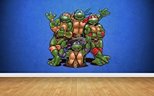 Teenage Mutant Ninja Turtles Wall Stickers Art Decal Vinyl Boys - Ninja turtle wall decals